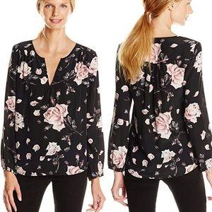 Joie • odelette silk floral blouse Rose